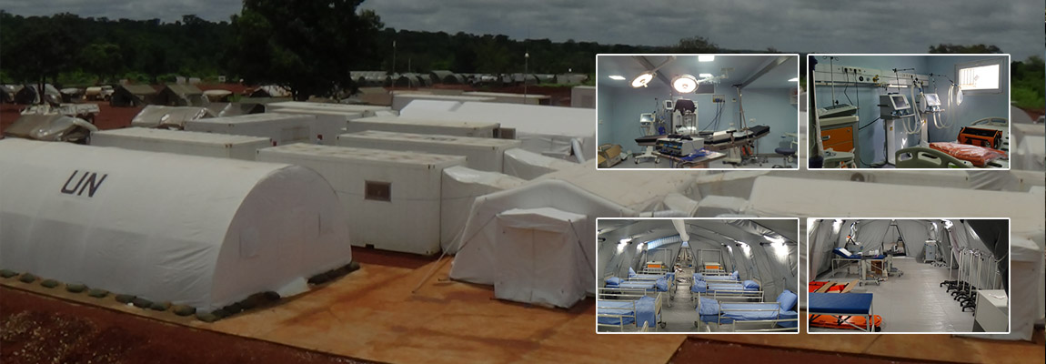 Level2+ Field Hospital & Accommodation Camp in Central African Republic